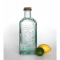 Preview: Flasche 2 Liter , Lemonade-Relief,  Recyclingglas, Korkverschluss, Mediterranea Lifestyle