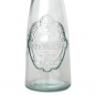 Mobile Preview: ECOVINTAGE Flasche Ornamentrelief mit Ausgießer, 300 cc, Recyclingglas, Mediterranea Lifestyle, recycelte Glas