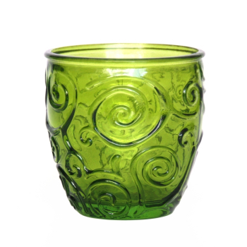 Weinglas / Glasbecher, Ornamente, limette, Recyclingglas