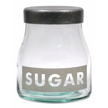 Vorratsglas, Sugar / Zucker, Recyclingglas