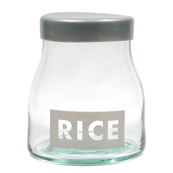 Vorratsglas, Rice / Reis, Recyclingglas