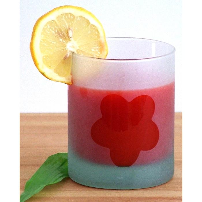 pandorael saftglas wasserglas satiniert mit bl tenmotiv recyclingglas. Black Bedroom Furniture Sets. Home Design Ideas